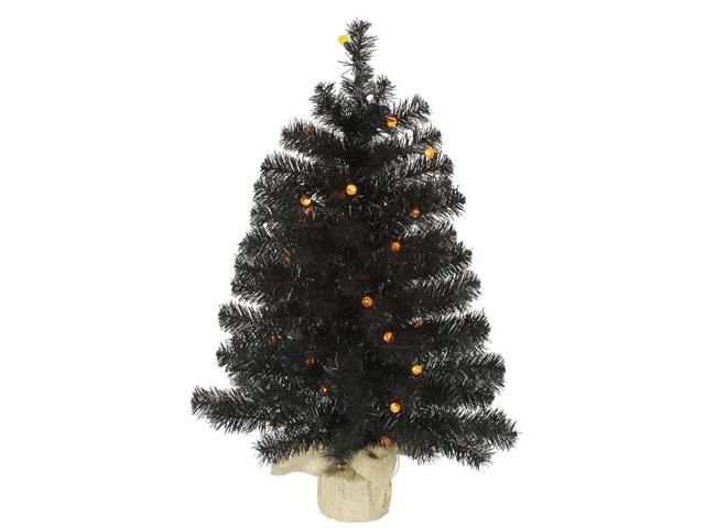2.5' Pre-Lit Black Pine Artificial Halloween Christmas