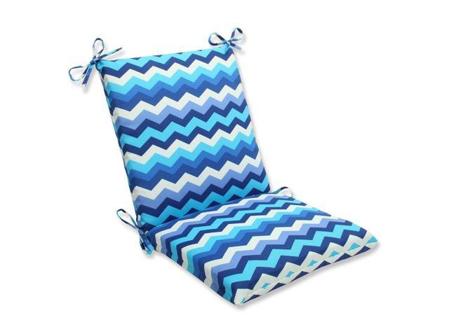 blue navy and white chevron striped outdoor patio chair cushion