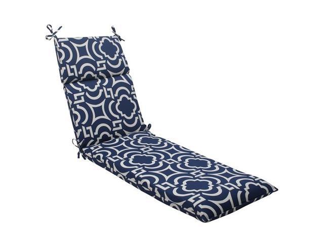 72 5 Geometric Navy Blue Sky Outdoor Patio Chaise Lounge Cushion With T