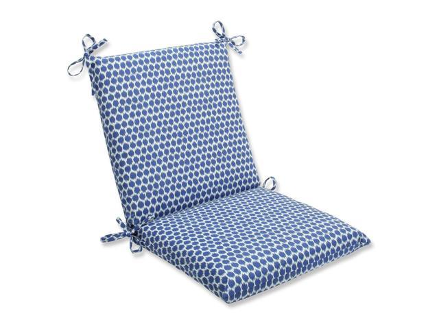 abeille royal blue and white outdoor patio chair cushion