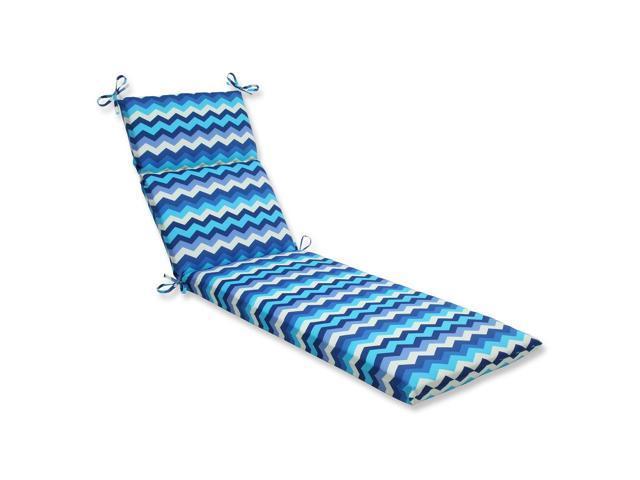 "72.5"" Rayas Azules Blue, Navy And White Chevron Striped"