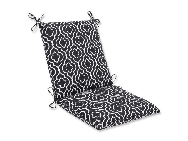 """36 5"""" Traliccio Maglia Black and White Outdoor Patio Chair"""