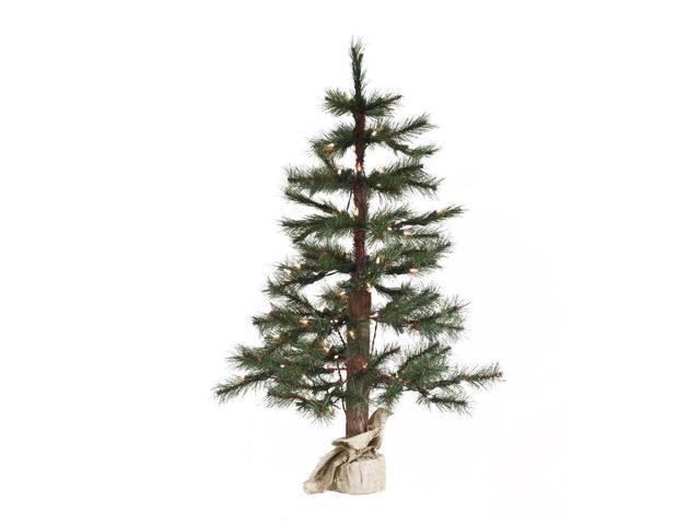 7' Pre-Lit Norwegian Pine Artificial Christmas Twig Tree