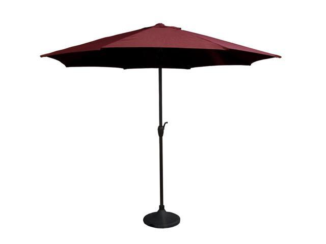 9' Outdoor Patio Market Umbrella with Hand Crank and Tilt - Burgundy