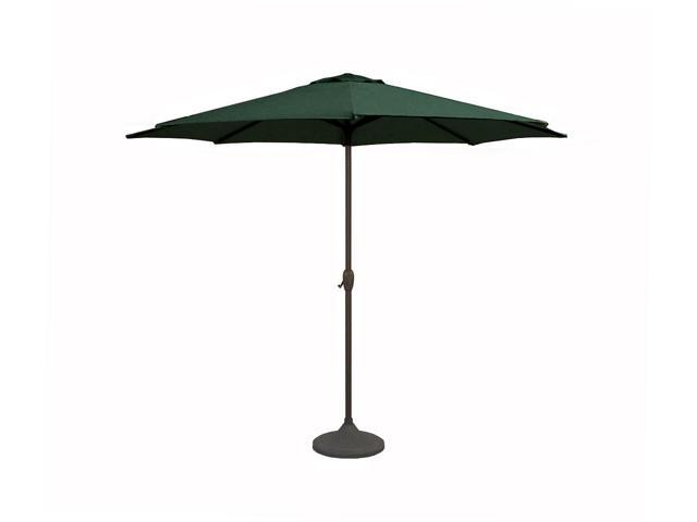 9' Outdoor Patio Market Umbrella with Hand Crank and Tilt - Hunter Green