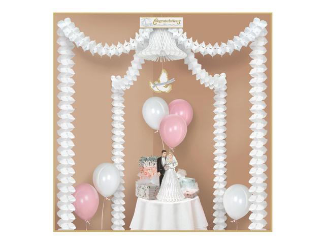 Wedding Reception Decoration Kits : Pack of elegant and classic white canopy wedding reception decorating kits newegg
