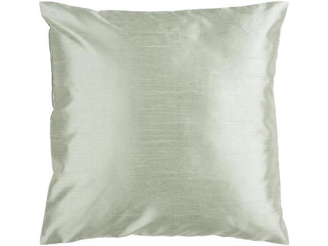 """22"""" Shiny Solid Silver Decorative Throw Pillow"""