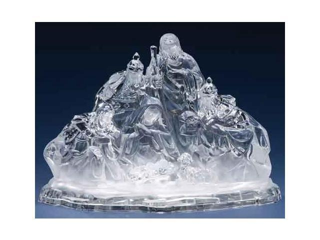 Icy Crystal LED Lighted Color Changing Holy Family Christmas Nativity Figure