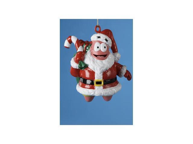 Patrick Star in Santa Suit Blow Mold SpongeBob Christmas Ornament 3.25