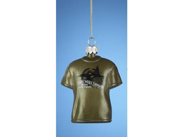 U.S. Army Gold Star Logo Glass Ball Christmas Ornament 3.25