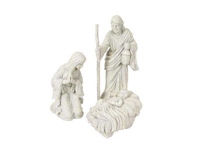 Set of 3 Winter Solace Holy Family: Mary, Joseph, & baby Jesus Nativity Statuary