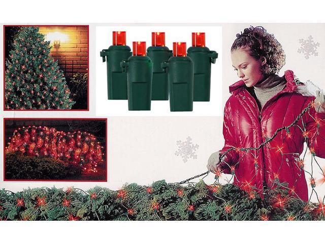 4' x 6' Red Wide Angle LED Net Christmas Lights - 120 Lights Green Wire