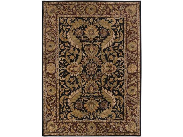 9' x 13' Majesty Bronze, Raw Umber & Mossy Gold Rectangular Wool Area Throw Rug