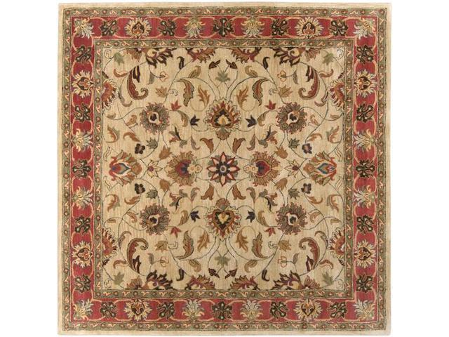 8' Augustus Russet and Burnt Sienna Wool Square Area Throw Rug