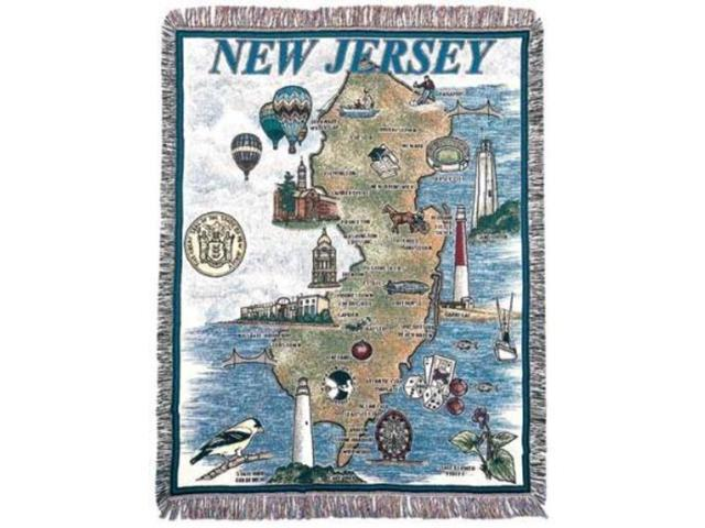 State of New Jersey Tapestry Throw Blanket 50