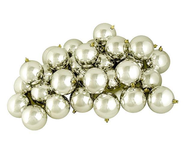 32ct Shiny Champagne Shatterproof Christmas Ball Ornaments 3.25