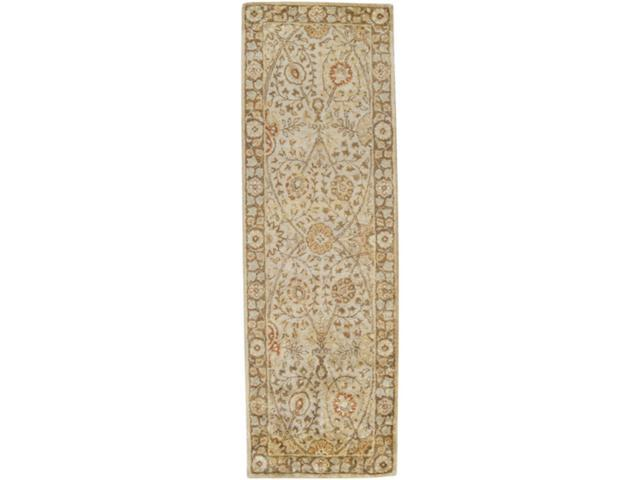 2.5' x 8' Legacy Coral, Honey, Vanilla and Yellow Area Runner Throw Rug