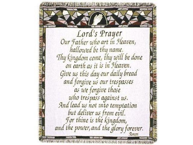 The Lord's Prayer Religious Afghan Throw Blanket 48