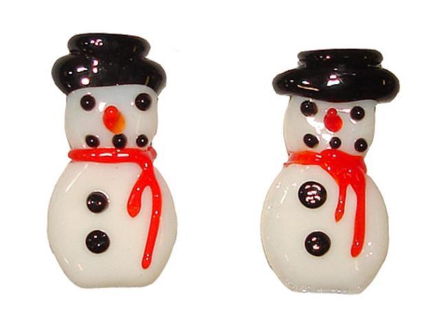 Club Pack of 72 Better Homes & Gardens Glass Snowmen Pebbles #25654