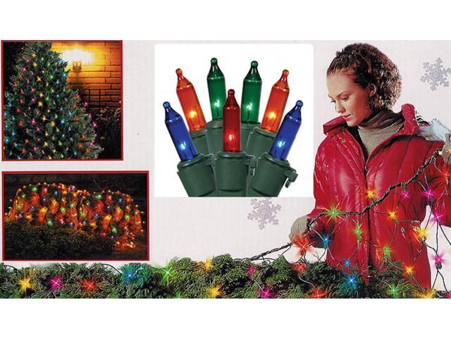 4' x 6' Multi-Color Commercial Grade Mini Net Style Christmas Lights -Green Wire