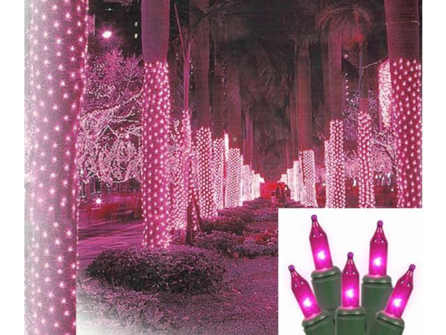 2 39 x 8 39 pink led net style tree trunk wrap christmas. Black Bedroom Furniture Sets. Home Design Ideas