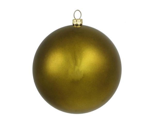 Matte Olive Green Commercial Shatterproof Christmas Ball Ornament 6