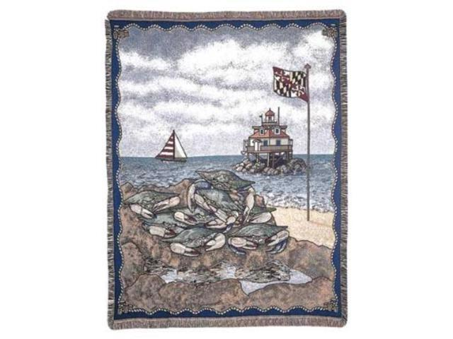 Maryland Blue Crab Tapestry Throw Blanket 50