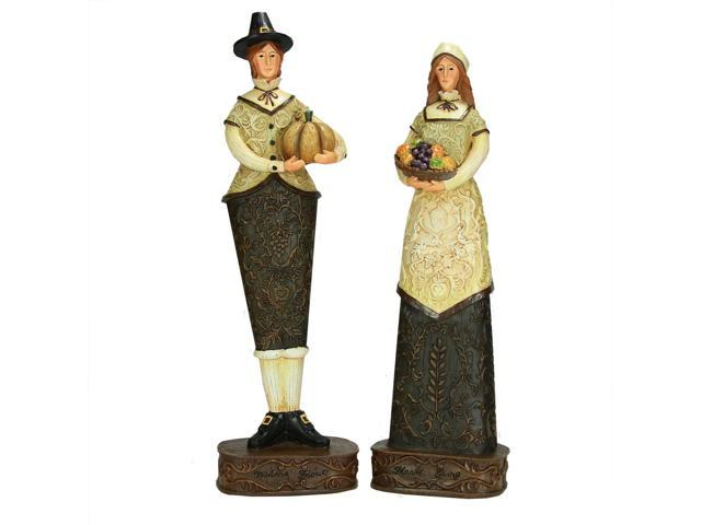 Set of 2 Harvest Collection Thanksgiving Pilgrim Figures