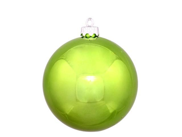 Shiny Green Kiwi Commercial Shatterproof Christmas Ball Ornament 8
