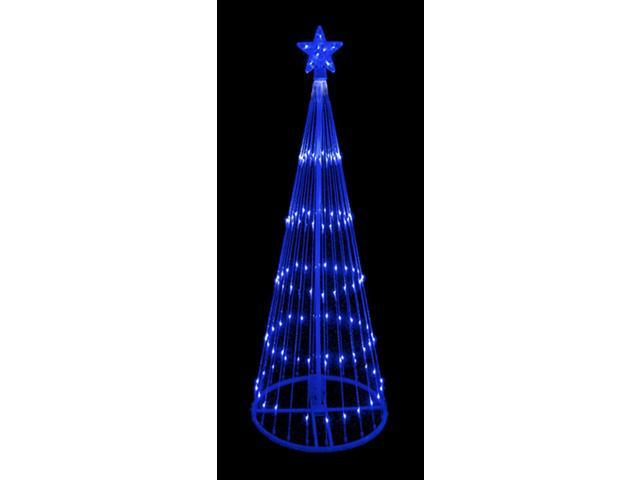 9' Blue LED Light Show Cone Christmas Tree Lighted Yard Art Decoration