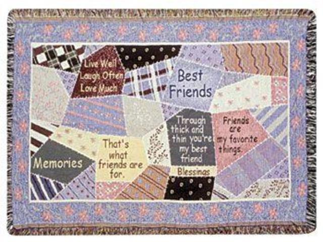 Best Friends Friendship Patchwork Afghan Throw Blanket 40