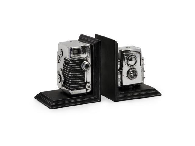 Set of 2 Antique Style Camera Box Decorative Storage Bookends