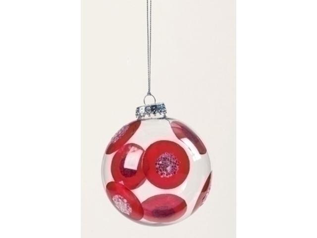 Sweet Memories Retro Glass Ball Red Dot Christmas Ornament 4