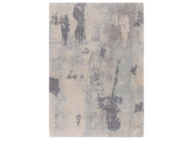 2' x 2.75' Shaded Terrain Powder Blue, Fog Gray and Taupe Gray Area Throw Rug