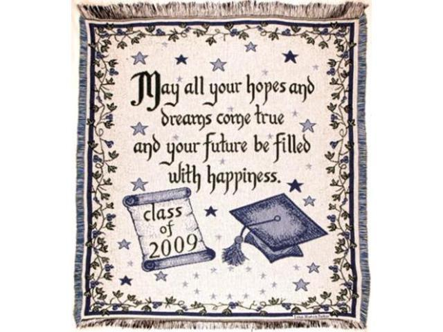 New Graduate Class of 2009 Graduation Gift Afghan Throw Blanket 48