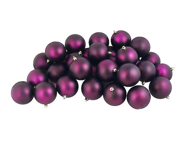 60ct Matte Purple Passion Shatterproof Christmas Ball Ornaments 2.5