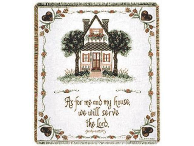 As For Me And My House Spiritual Biblical Quote Afghan Throw 48