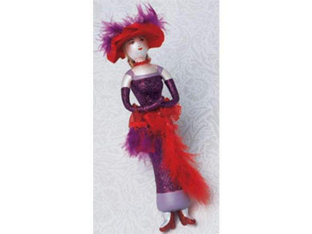 Club Pack of 12 Red Hat Society Glass Christmas Ornaments #823069A