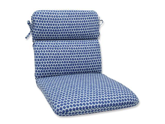 40 5 Ruche D 39 Abeille Royal Blue And White Outdoor Patio Rounded Cha