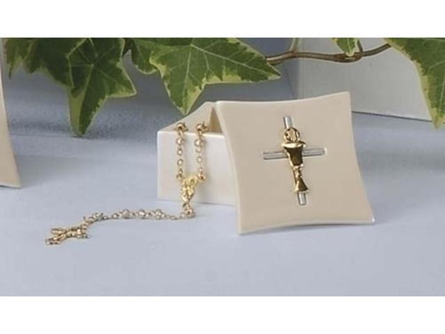 Communion Keepsake Box with Rosary