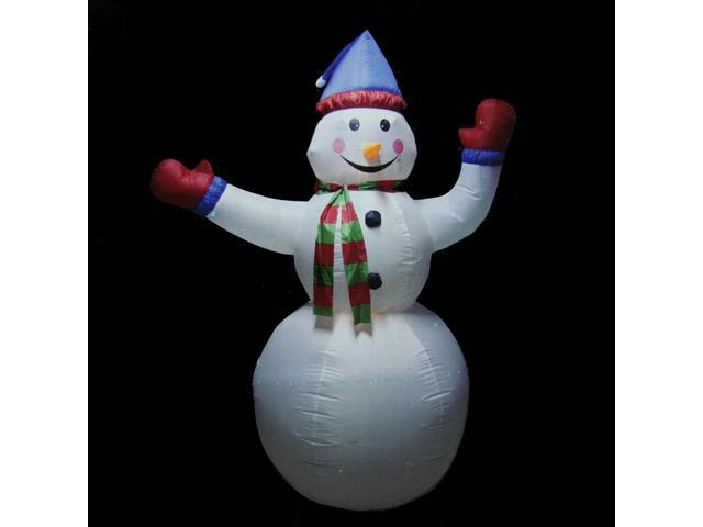 8 39 animated inflatable lighted standing snowman christmas for Animated snowman decoration