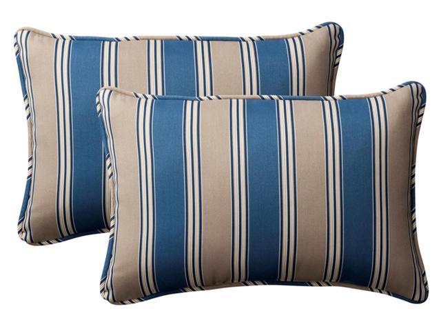 Pack of 2 Outdoor Rectangular Throw Pillows 18.5