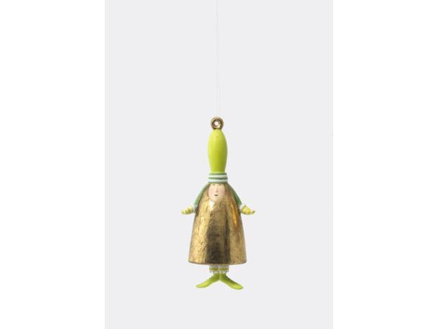 Department 56 Krinkles Green Ding Dong Bell Christmas Ornament #796576