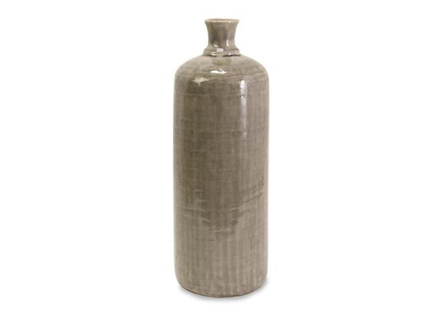 Classical Shape Large Gray Textured Surface Ceramic Bottle 19