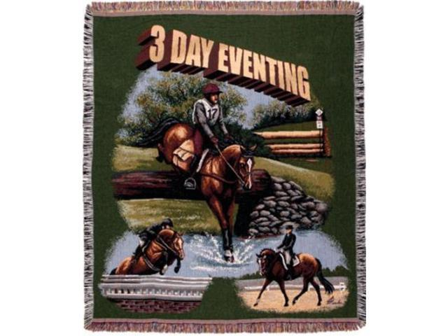 3 Day Eventing Horse Equestrian Tapestry Throw Blanket 50