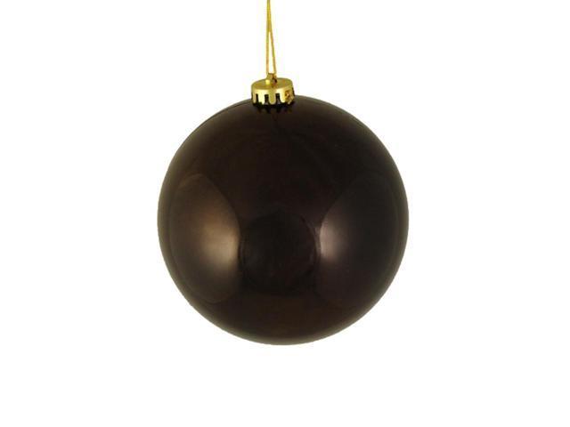 Shiny Chocolate Brown Shatterproof Christmas Ball Ornament 6