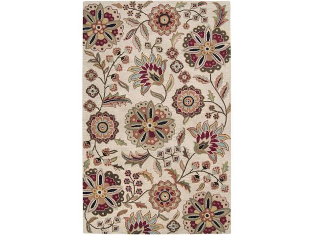 8' x 11' Brahma Kamal Safari Tan & Turtle Green Wool Rectangular Area Throw Rug