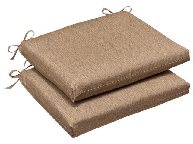 Pack of 2 Outdoor Patio Furniture Chair Seat Cushions - Textured Tan Sunbrella