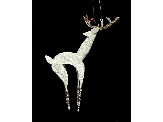 Better Homes & Gardens White Reindeer Head Turned Christmas Ornament #26575