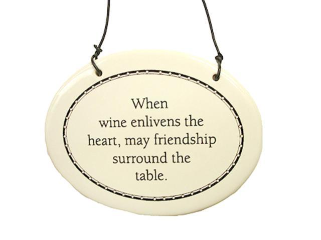 Wine Enlivens The Heart Friendship Christmas Ornament 6